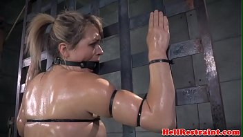 trussed roughsex victim strapped up while.