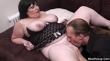 dark haired plus-size is puss gobbled and rear end-pounded