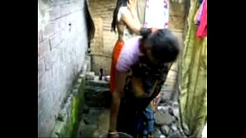 bangla desi village doll bathing in.