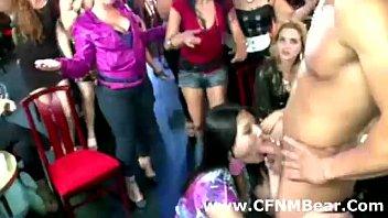 cfnm first-ever-timer lady gargles a masculine stripper in public