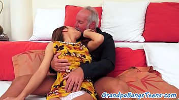 good-sized-chested nubile pummels grandfather
