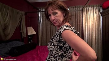 nasty mature taking off her dark-hued underwear and playing