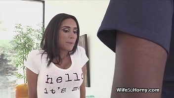 hotwife wifey blows tenants good-sized ebony fellow sausage.