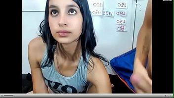 pareja de jovenes en web webcam.