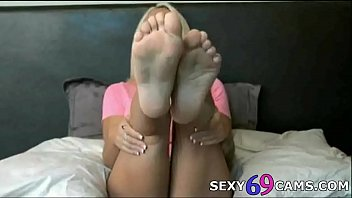 cool blondie mega-bitch gives marvelous feet jerk off instructions