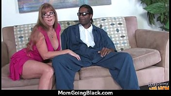 mature mommy slightly takes ten inch ebony manstick 1