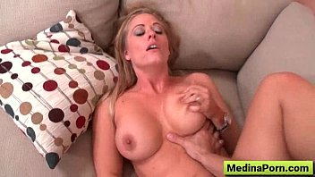 assistant with humungous melons nailed at.