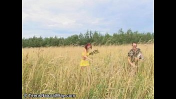 russian ginger-haired michelle gets nailed outdoors