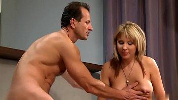 jummy cora gets boobs glazes in guy splooge.