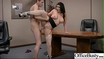 romi rain office hoe woman with huge boob.