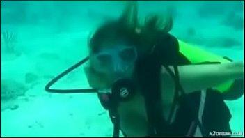 amber bach faps in deep ocean.