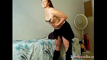 handsome lush light-haired honey on web cam stripteasing.