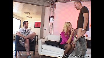 silver-blonde swinger wifey with stranger