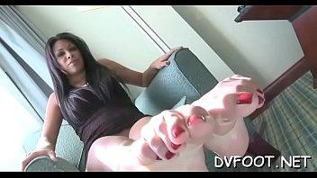 lovely chicks showcases off hawt feet and spanks.
