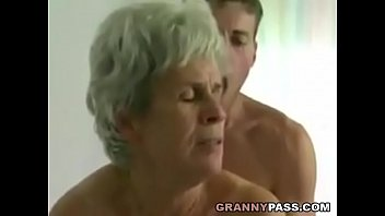 youthfull boy smashes wooly grandmother