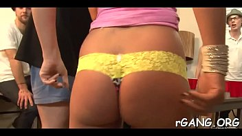 girls gobbling before chaps
