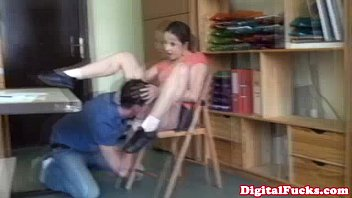 brown-haired student ravages stud sausage in.