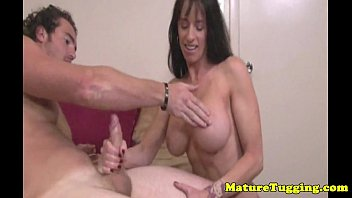 immense-boobed step-mom milking a manstick dry.
