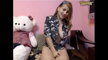 silver-blonde camgirl rail and spunk