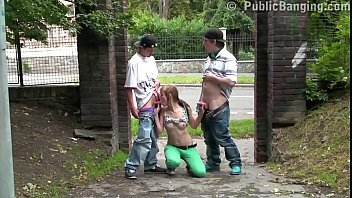nubile street 3some bang-out group pound with a.