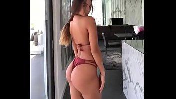 fabulous silver-blonde woman modeling ideal booty