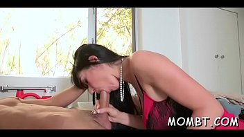 supah-boning-hot mum is providing hunk a lusty beefstick.