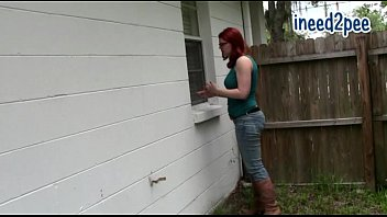 sandy-haired tori bell dousing her jeans.