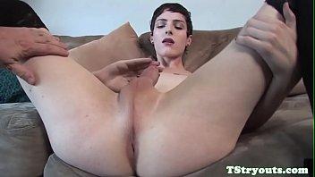 trans hottie milks her cum-shotgun at.
