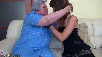 youthful chick and senior plump grandma.
