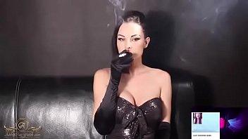 smoking female with cig proprietor