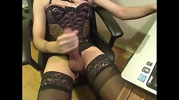 she-creature sissy milking solo on web.