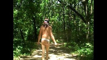 naked-backside camping and hiking in sissy undies by.