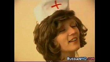 russian nurse poked by a ebony.