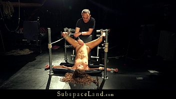 sub with dental gag extreme harsh climax and agony