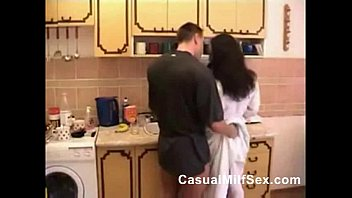 mommy from casualmilfsexcom and youthful boy kitchen shag.