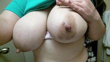 jerking my massive boobies