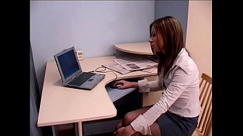 assistant office hookup in sheer crotchless.