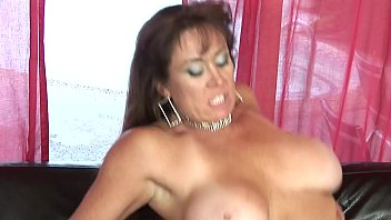 cougar with good-sized knockers fellates stiff-on on her.