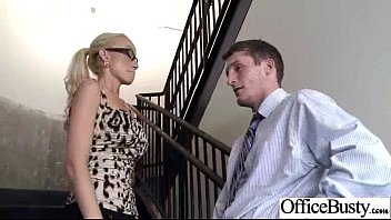 hefty-chested office chick madison scott nail rock-hard style.