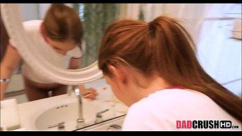 teenie stepdaughter pulverized while brushing teeth