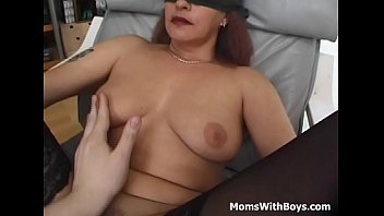 eyes caked and corded mama romped with facial cumshot