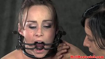 ball-gagged-confine bondage & discipline-marionette-flagellated-while-corded