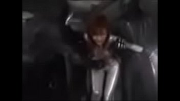 Asian Power Ranger is getting punched in her stomached multiple times