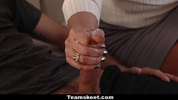 badmilfs - step-daughter-in-law shares beef whistle with buxomy cougar