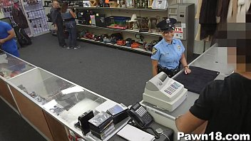 cop damsel fellating wood for currency in the supermarket