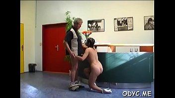unexperienced stunner lets an older man shag her cuchy