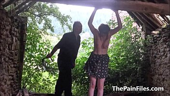 saschas outdoor jug caning and brutish weird dominance.