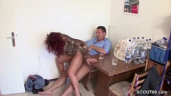 stranger lure german red-haired cougar to rip up.