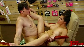 brown-haired cougar poked on the store