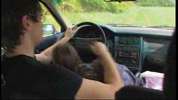 mischievous teenie inhales bone in truck.